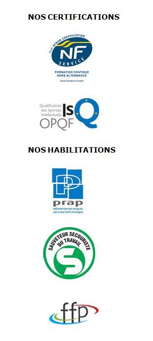 Nos certifications et habilitations 2